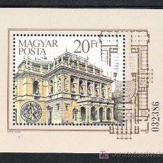 Sellos: HUNGRIA HB 175 SIN CHARNELA, MUSICA, CENTENARIO DE LA OPERA DE BUDAPEST, . Lote 8989689