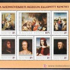 Sellos: HUNGRIA HB 173 SIN CHARNELA, PINTURA, RELIGION, MUSEO DE BELLAS ARTES DE BUDAPEST. Lote 8989794