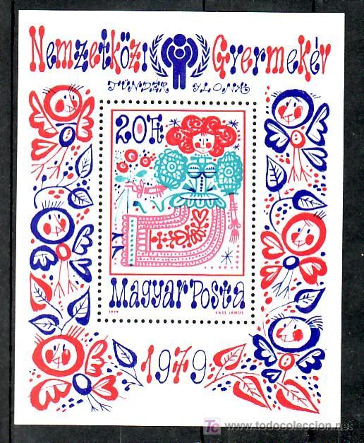 HUNGRIA HB 145 SIN CHARNELA, AÑO INTERNACIONAL DEL NIÑO, (Sellos - Extranjero - Europa - Hungría)
