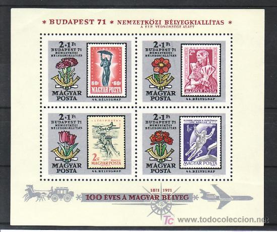 HUNGRIA HB 88 SIN CHARNELA, ASTROFILATELIA, FLORES, CENTENARIO DEL SELLO DE HUNGRIA, (Sellos - Extranjero - Europa - Hungría)