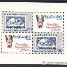 Sellos: HUNGRIA HB 53 SIN CHARNELA, WIPA 1965 EXPOSICION FILATELICA INTERNACIONAL EN VIENA. Lote 11858554