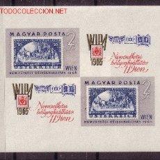 Sellos: HUNGRÍA HB 53A*** SIN DENTAR - AÑO 1965 - EXPOSICIÓN FILATÉLICA INTERNACIONAL DE VIENA. Lote 25518650