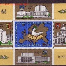 Sellos: HUNGRÍA HB 151*** - AÑO 1980 - CONFERENCIA DE SEGURIDAD Y COOPERACIÓN EUROPEA DE MADRID. Lote 25036709