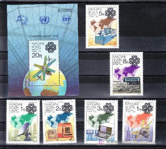 HUNGRIA 2875/80, HB 170 SIN CHARNELA, AÑO MUNDIAL DE LAS COMUNICACIONES, (Sellos - Extranjero - Europa - Hungría)