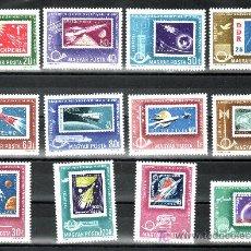 Sellos: HUNGRIA A 258/69 SIN CHARNELA, ASTROFILATELIA, ESPACIO, CONFERENCIA MINISTROS CORREOS DEMOCRATICOS . Lote 17826683