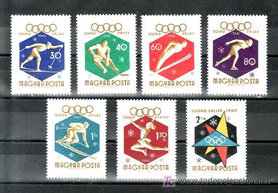 HUNGRIA 1353/9 SIN CHARNELA, DEPORTE, JUEGOS OLIMPICOS DE INVIERNOS EN SQUAW VALLEY (Sellos - Extranjero - Europa - Hungría)