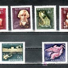 Sellos: HUNGRIA 1308/13 SIN CHARNELA, MUSICA, COMPOSITOR JOSEPH HAYDN, POETA FRIEDRICH VON SCHILLER . Lote 18999192