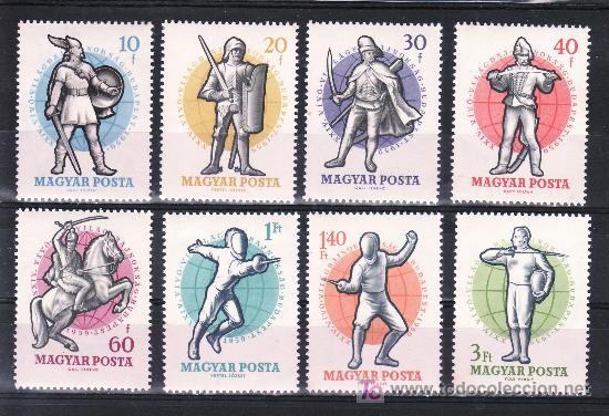 HUNGRIA 1295/302 SIN CHARNELA, DEPORTE, 24º CAMPEONATO DEL MUNDO DE ESGRIMA EN BUDAPEST, (Sellos - Extranjero - Europa - Hungría)