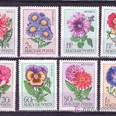 Sellos: HUNGRIA 1993/2000 SIN CHARNELA, FLORES DE JARDIN, . Lote 26671058