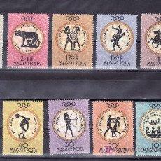 Sellos: HUNGRIA 1379/89 SIN CHARNELA, DEPORTE, JUEGOS OLIMPICOS DE ROMA. Lote 26981709