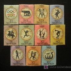 Sellos: HUNGRIA 1960 IVERT 1379/89 *** JUEGOS OLIMPICOS DE ROMA - DEPORTES. Lote 26912342