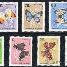 Sellos: HUNGRIA AÑO 1966 YV 1790/98*** MARIPOSAS - INSECTOS - FAUNA - NATURALEZA. Lote 26478683