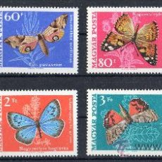 Sellos: HUNGRIA AÑO 1969 YV 2034/41*** MARIPOSAS - INSECTOS - FAUNA - NATURALEZA. Lote 26478684