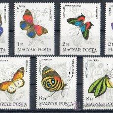 Sellos: HUNGRIA AÑO 1984 YV 2911/17*** MARIPOSAS - INSECTOS - FAUNA - NATURALEZA. Lote 26478687