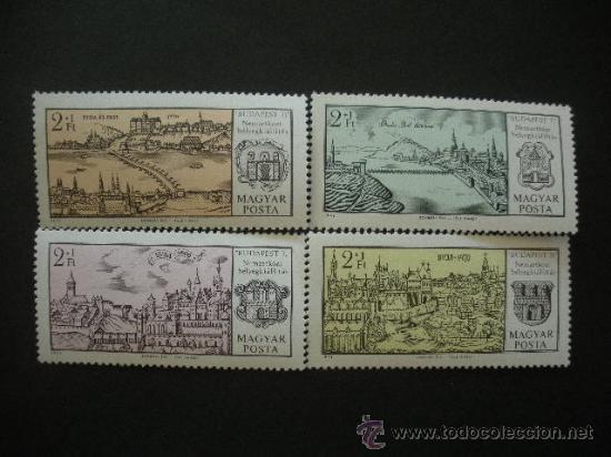 HUNGRIA 1971 IVERT 2144/7 *** EXPOSICIÓN FILATÉLICA INTERNACIONAL - BUDAPEST-71 (Sellos - Extranjero - Europa - Hungría)