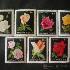 Sellos: HUNGRIA 1982 IVERT 2806/12 *** FLORA - ROSAS. Lote 31012484