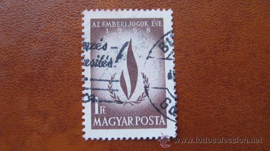 1968 HUNGRIA, AÑO INTERNACIONAL DE LOS DERECHOS HUMANOS, YVERT 2010 (Sellos - Extranjero - Europa - Hungría)