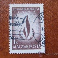 Sellos: 1968 HUNGRIA, AÑO INTERNACIONAL DE LOS DERECHOS HUMANOS, YVERT 2010. Lote 31068168