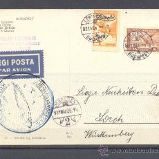 Sellos: 1929.- BUDAPEST (HUNGRIA) A WUTTEMBERG (ALEMANIA). Lote 35409048