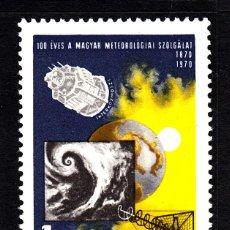 Sellos: HUNGRIA 2095** - AÑO 1970 - CENTENARIO DEL SERVICIO METEOROLÓGICO. Lote 41127067
