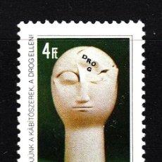 Sellos: HUNGRIA 3171** - AÑO 1988 - LUCHA CONTRA LA DROGA. Lote 41380075
