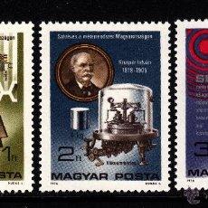 Sellos: HUNGRIA 2488/90** - AÑO 1976 - CENTENARIO DE LA ADOPCION DEL SISTEMA METRICO EN HUNGRIA. Lote 42163500