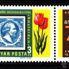 Sellos: HUNGRIA 2567** - AÑO 1977 - EXPOSICION FILATELICA INTERNACIONAL AMPHILEX 77. Lote 42176620