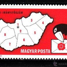 Sellos: HUNGRIA 2288** - AÑO 1973 - INTRODUCCION DEL CODIGO POSTAL. Lote 42190488