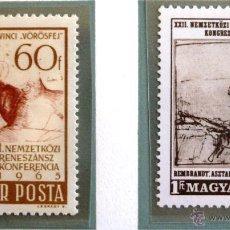 Sellos: SELLOS DE HUNGRIA 1965. NUEVOS. 2 SELLOS.. Lote 44812260