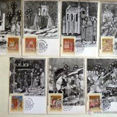 Sellos: TARJETA MAXIMA HUNGRIA. MINIATURAS. BUDAPEST 1971. 7 TARJETAS.. Lote 44813215