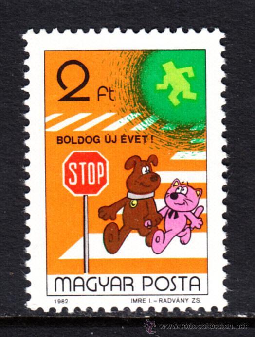HUNGRIA 2846** - AÑO 1982 - DIBUJOS ANIMADOS HUNGAROS (Sellos - Extranjero - Europa - Hungría)