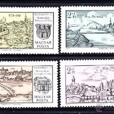 Sellos: HUNGRIA 2144/47** - AÑO 1971 - EXPOSICIÓN FILATÉLICA INTERNACIONAL BUDAPEST 71 - GRABADOS . Lote 47930341