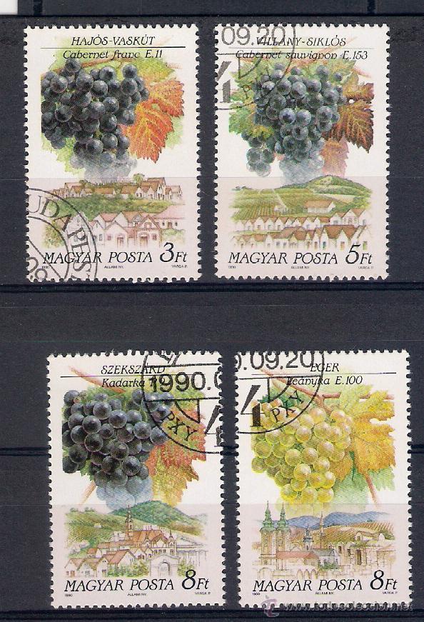 VINOS DE HUNGRÍA (REGIONES) SELLOS AÑO 1990 (Sellos - Extranjero - Europa - Hungría)