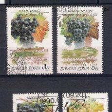 Sellos: VINOS DE HUNGRÍA (REGIONES) SELLOS AÑO 1990. Lote 48762439
