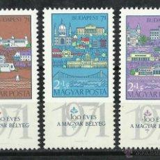 Sellos: HUNGRIA - 1970 - SCOTT B276/B278** MNH. Lote 193800292