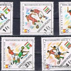 Sellos: HUNGRIA - LOTE 5 SELLOS - FUTBOL (USADO) LOTE 64. Lote 51666388