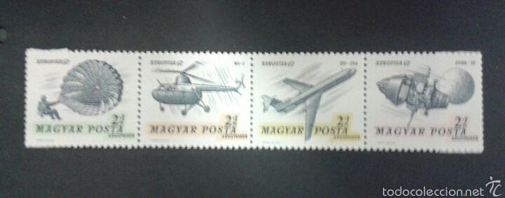 SELLOS DE HUNGRÍA. AVIONES. YVERT A 296/99. SERIE COMPLETA NUEVA SIN CHARNELA. (Sellos - Extranjero - Europa - Hungría)