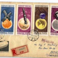 Sellos: HUNGRIA. CORREO AEREO. CERTIFICADO DE KOMLO 1965. Lote 54033370