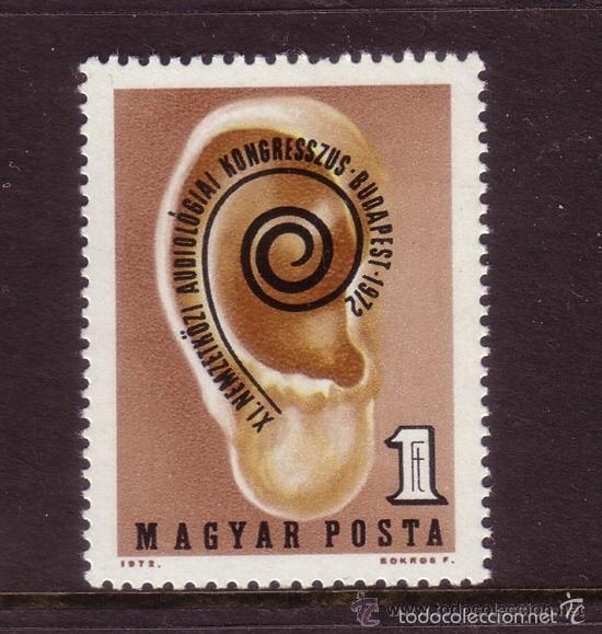HUNGRIA 1972 IVERT 2272 *** CONGRESO INTERNACIONAL DE AUDIOLOGÍA (Sellos - Extranjero - Europa - Hungría)