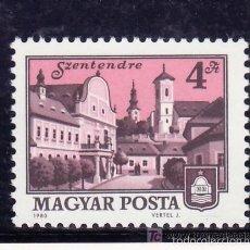 Sellos: HUNGRIA 1980 IVERT 2728 *** SERIE BÁSICA - CIUDADES DE HUNGRIA - SZENTENDRE. Lote 55859769