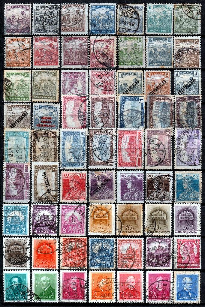 HUNGRIA (16-291) LOTE 117 SELLOS DIFERENTES ANTIGUOS.- *.MH*( 2FOTOS) (Sellos - Extranjero - Europa - Hungría)