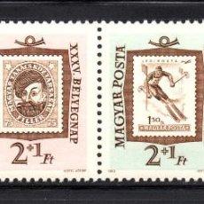 Sellos: HUNGRIA 1526/29** - AÑO 1956 - DIA DEL SELLO. Lote 62498628