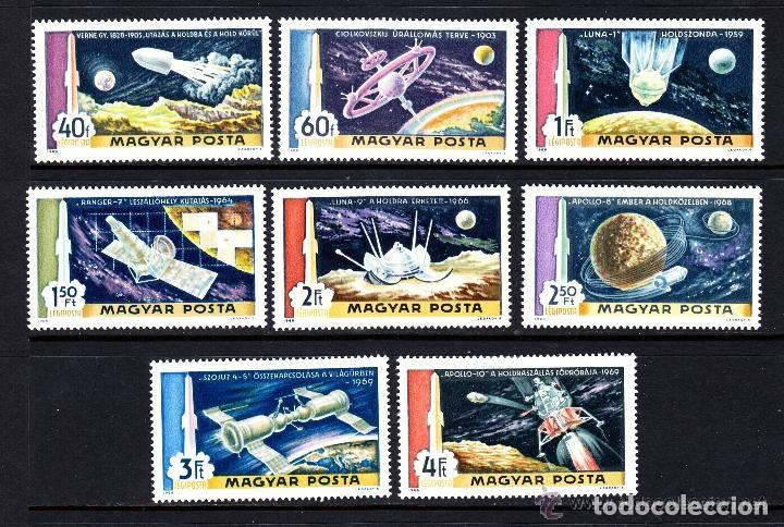 HUNGRIA 1969 AEREO IVERT 309/16 *** CONQUISTA DEL ESPACIO - SATELITES (Sellos - Extranjero - Europa - Hungría)
