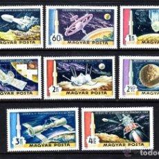 Sellos: HUNGRIA 1969 AEREO IVERT 309/16 *** CONQUISTA DEL ESPACIO - SATELITES. Lote 64448619