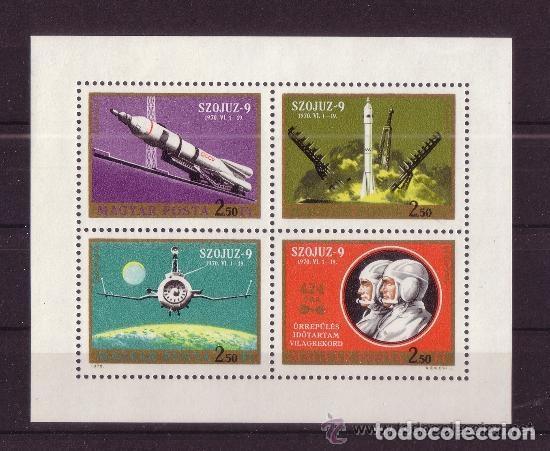 HUNGRIA 1970 AEREO IVERT 333/6 *** SOYOUZ 9 - CONQUISTA DEL ESPACIO (Sellos - Extranjero - Europa - Hungría)