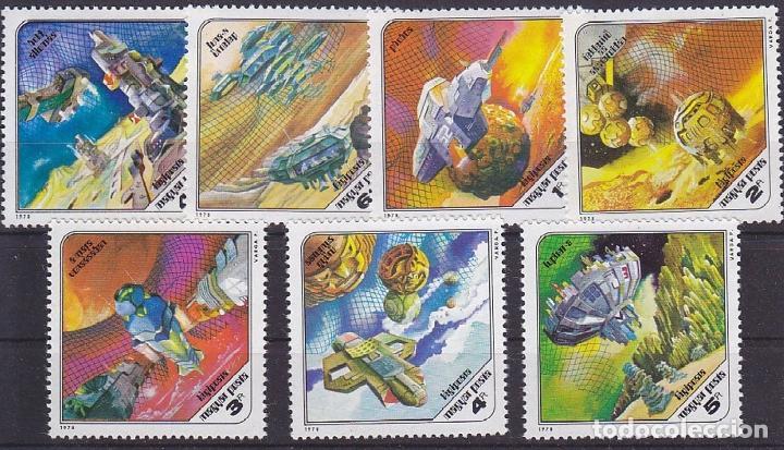 HUNGRIA 1978 AEREO IVERT 407/13 *** CONQUISTA DEL ESPACIO - CIENCIA FICCIÓN (Sellos - Extranjero - Europa - Hungría)