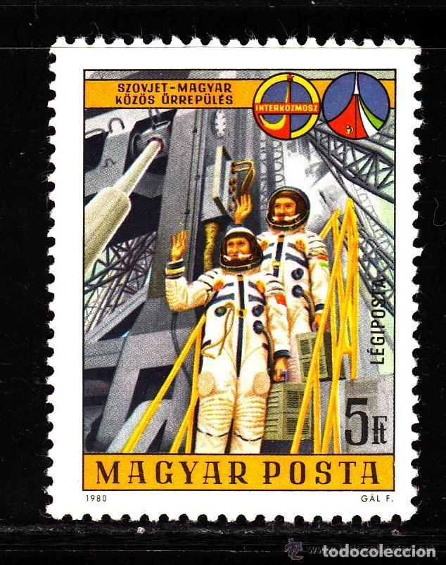 HUNGRIA 1980 AEREO IVERT 428 *** INTERCOSMOS - VUELO ESPACIAL SOVIETICO-HUNGARO - CONQUISTA ESPACIO (Sellos - Extranjero - Europa - Hungría)