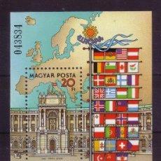 Sellos: HUNGRIA 1986 HB IVERT 189 *** CONFERENCIA SOBRE SEGURIDAD Y COOPERACIÓN EN EUROPA EN VIENA. Lote 64710287
