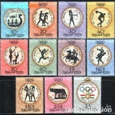 Sellos: HUNGRIA 1960 IVERT 1379/89 *** JUEGOS OLIMPICOS DE ROMA - DEPORTES. Lote 67305809