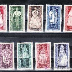 Sellos: HUNGRIA 1963 IVERT 1579/87 *** EXPOSICIÓN DE ARTE POPULAR - TRAGES REGIONALES - FOLKLORE. Lote 67484729
